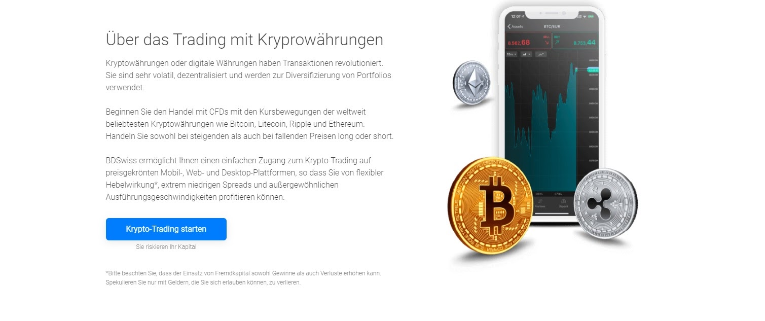 BDSwiss trading in cryptocurrencies