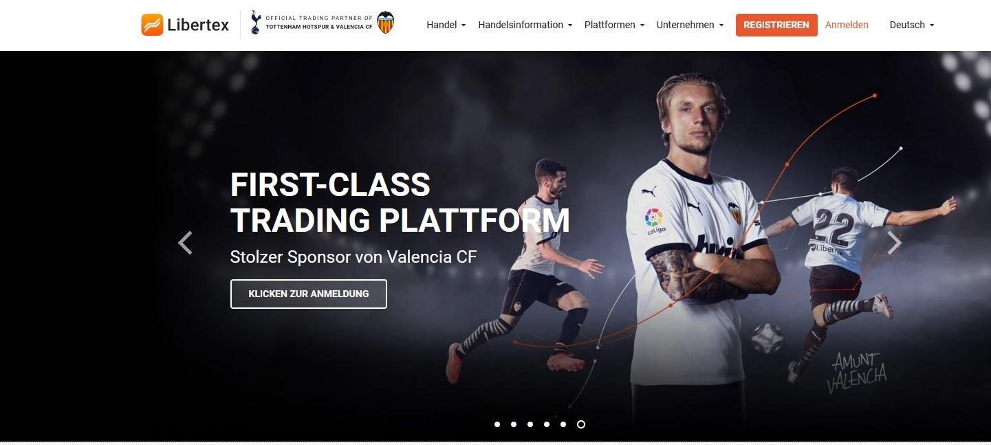 Libertex hjemmeside