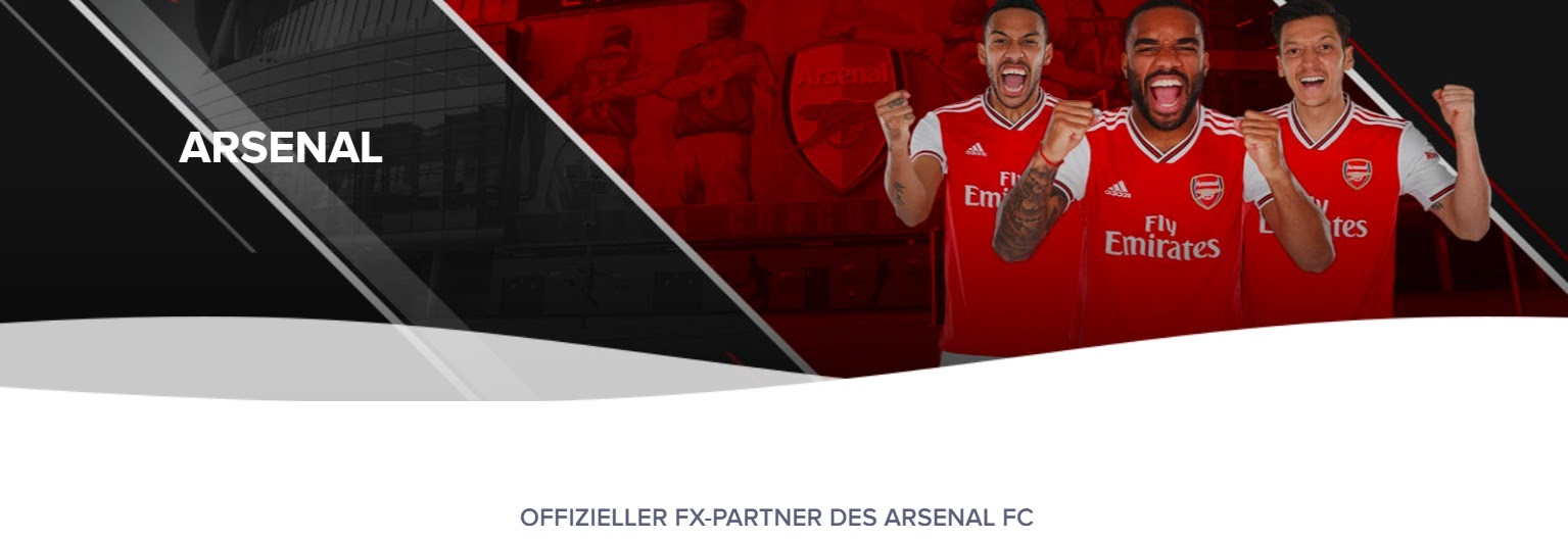 GKFX officiella Arsenal FC-partner