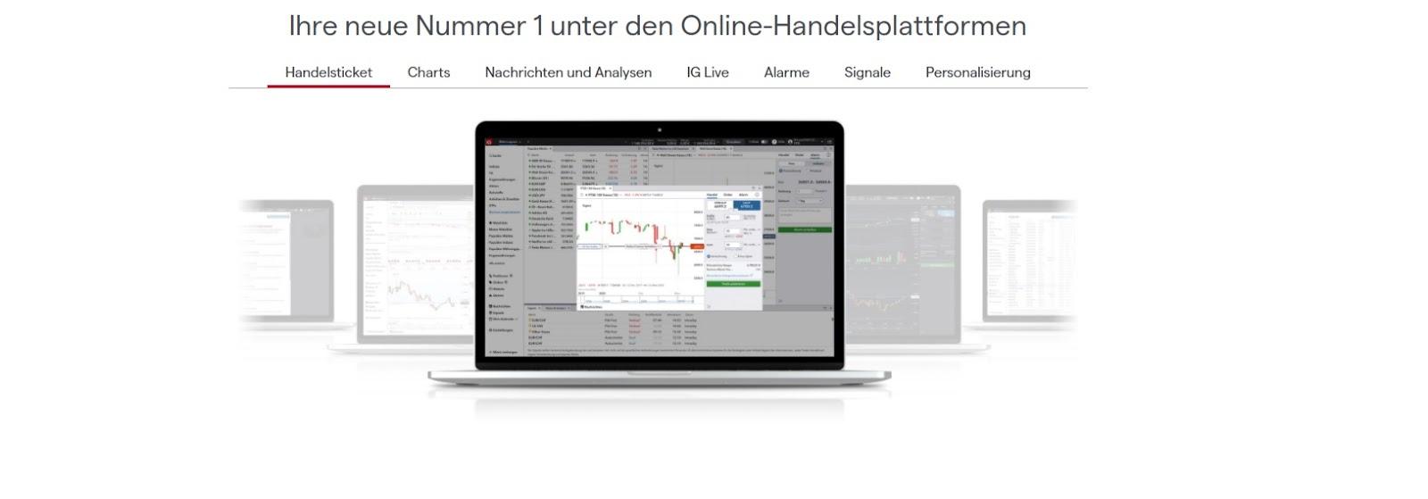 Fonctions IG de la plateforme de trading en ligne