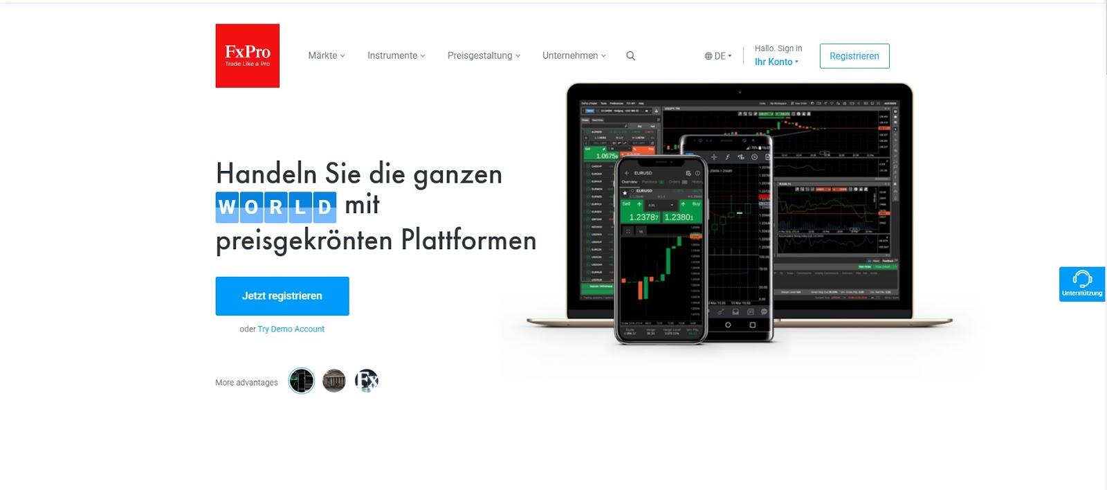 FxPro-website en logo