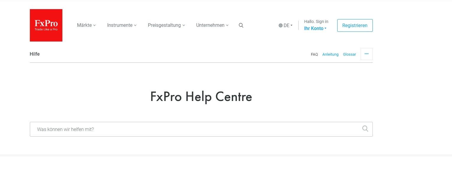 FxPro Klantenservice Helpcentrum