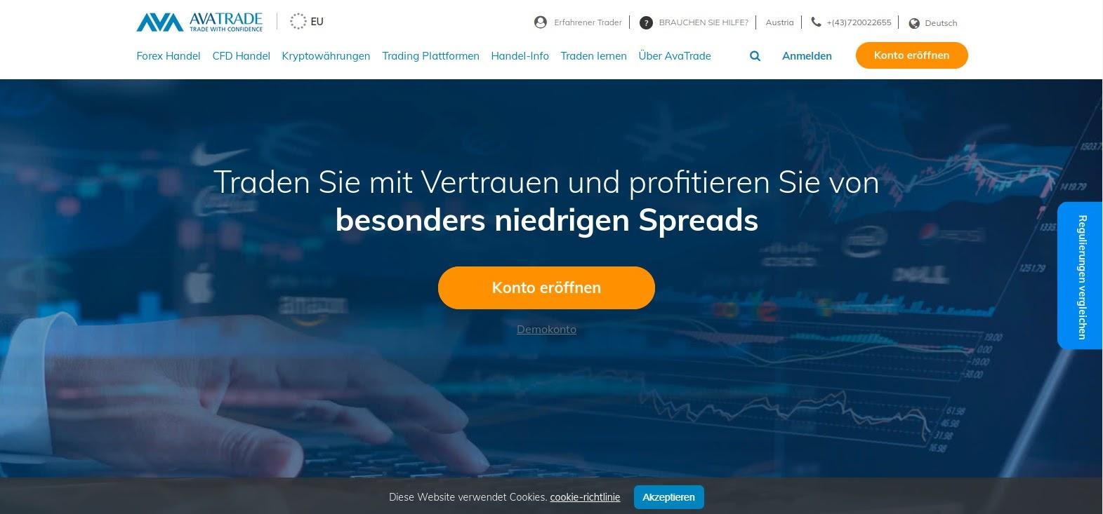 Site Web et logo AvaTrade
