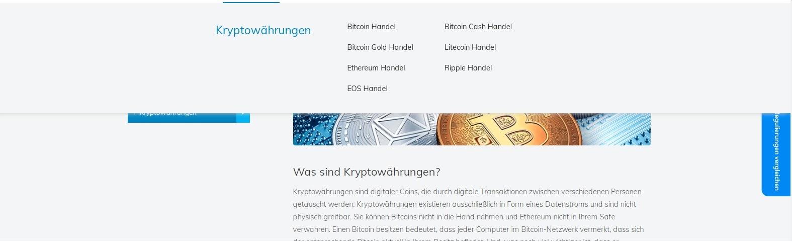 Trading de crypto-monnaie AvaTrade