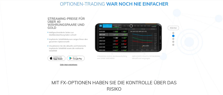 "Options de trading AvaTrade AvaOptions en un coup d'Å""il"