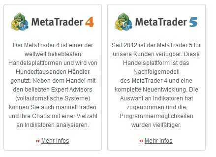 QTrade-handelsplatforms MetaTrader 4 en MT5