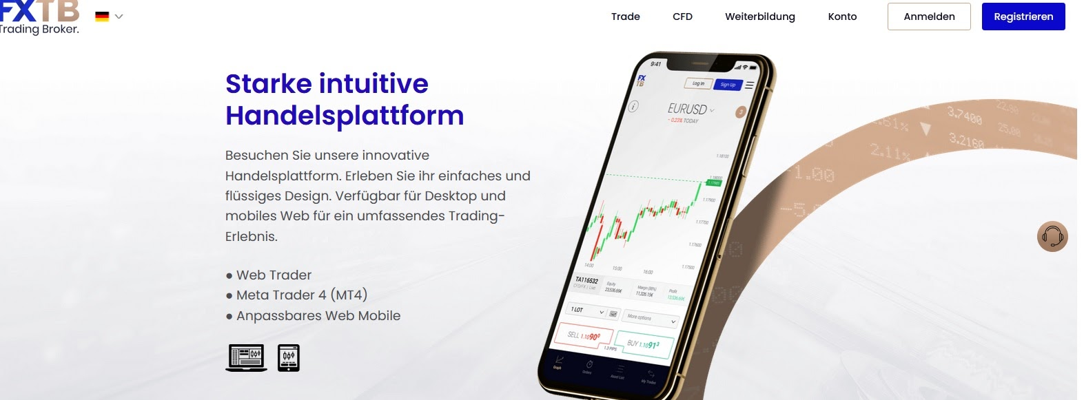FXTB trading platform briefly explained