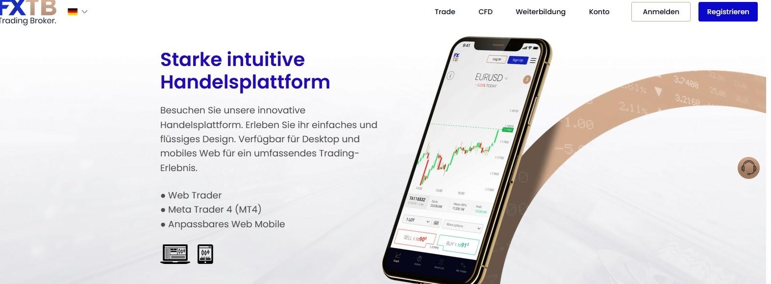 FXTB Trading Plattform kurz erklärt