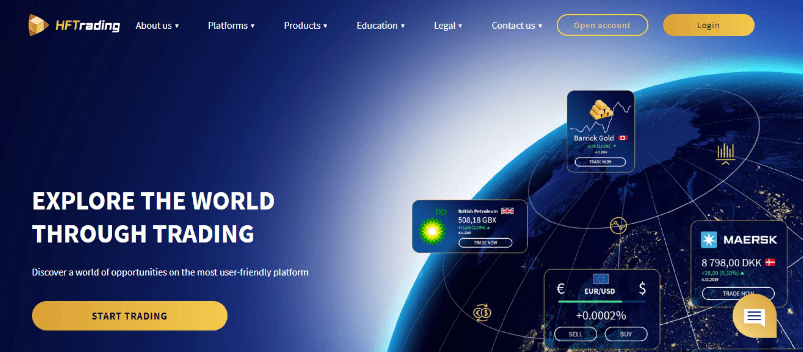 HFTrading website and logo