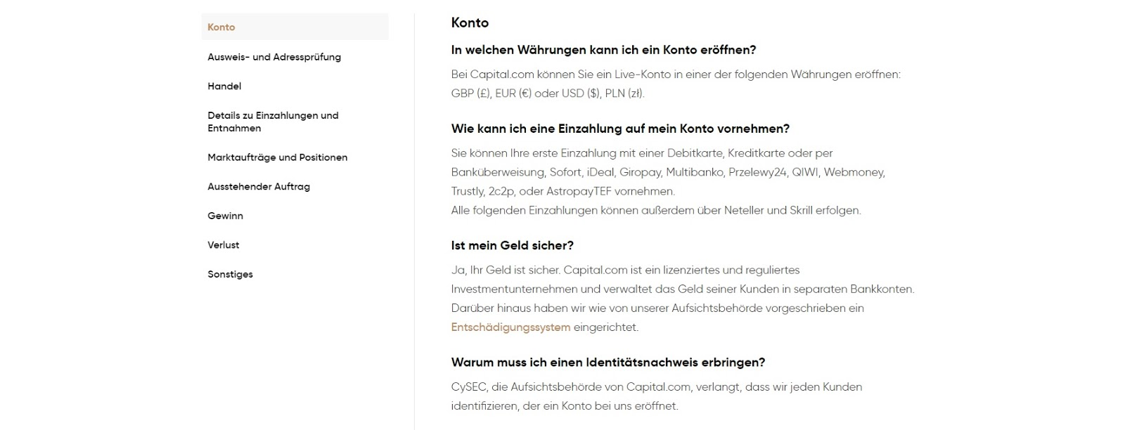 Ча�то задаваемые вопро�ы по об�луживанию клиентов Capital.com