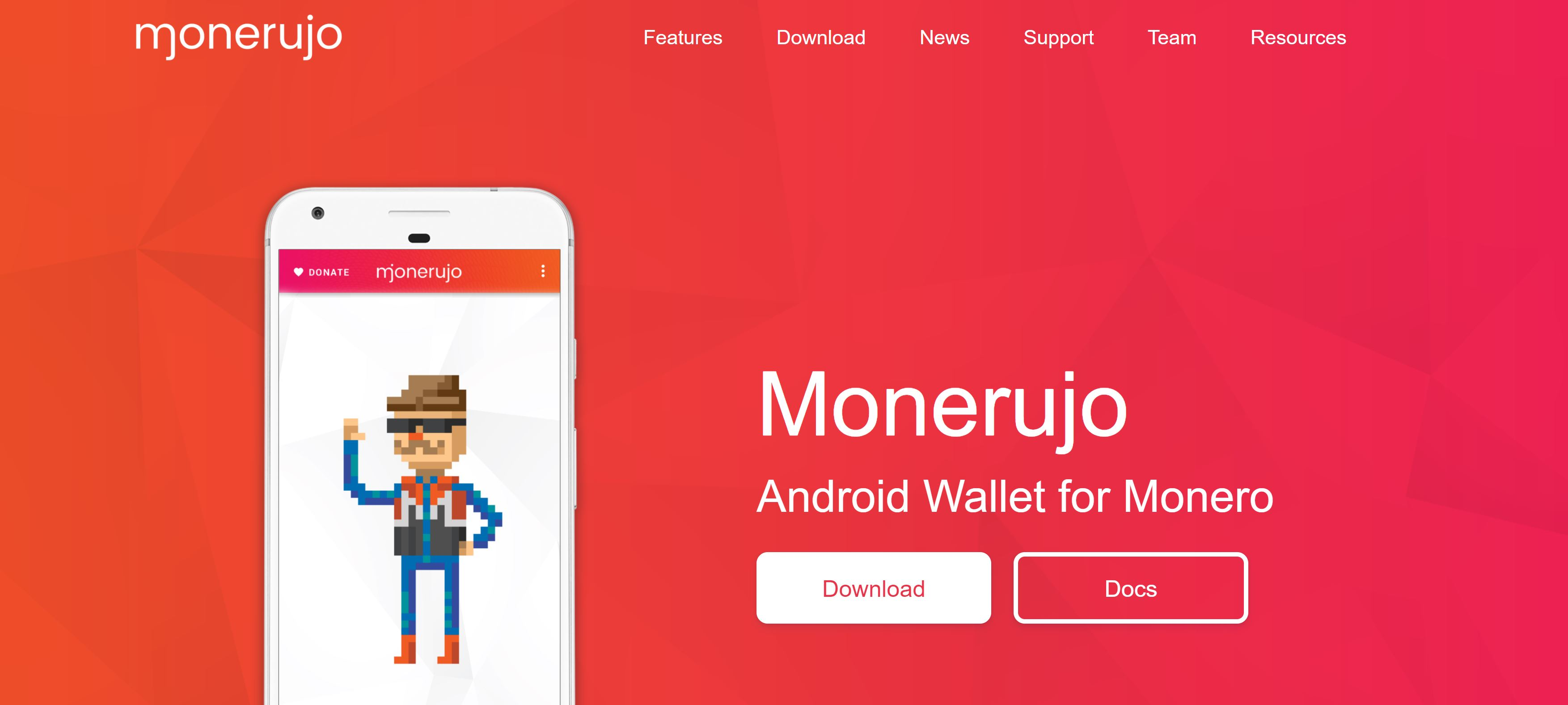 Sito Web di Monerujo Monero Wallet