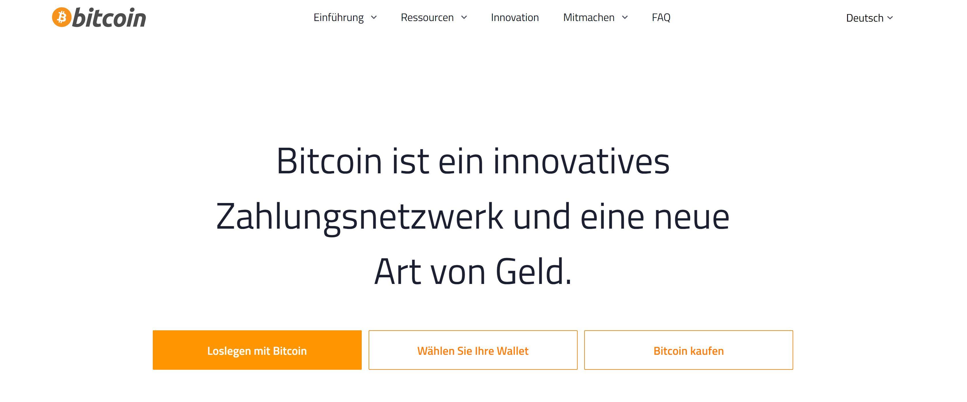 Sitio web de Bitcoin