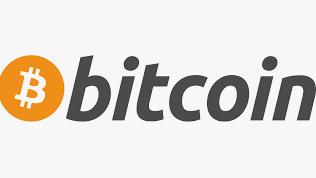 Bitcoin logo vertical