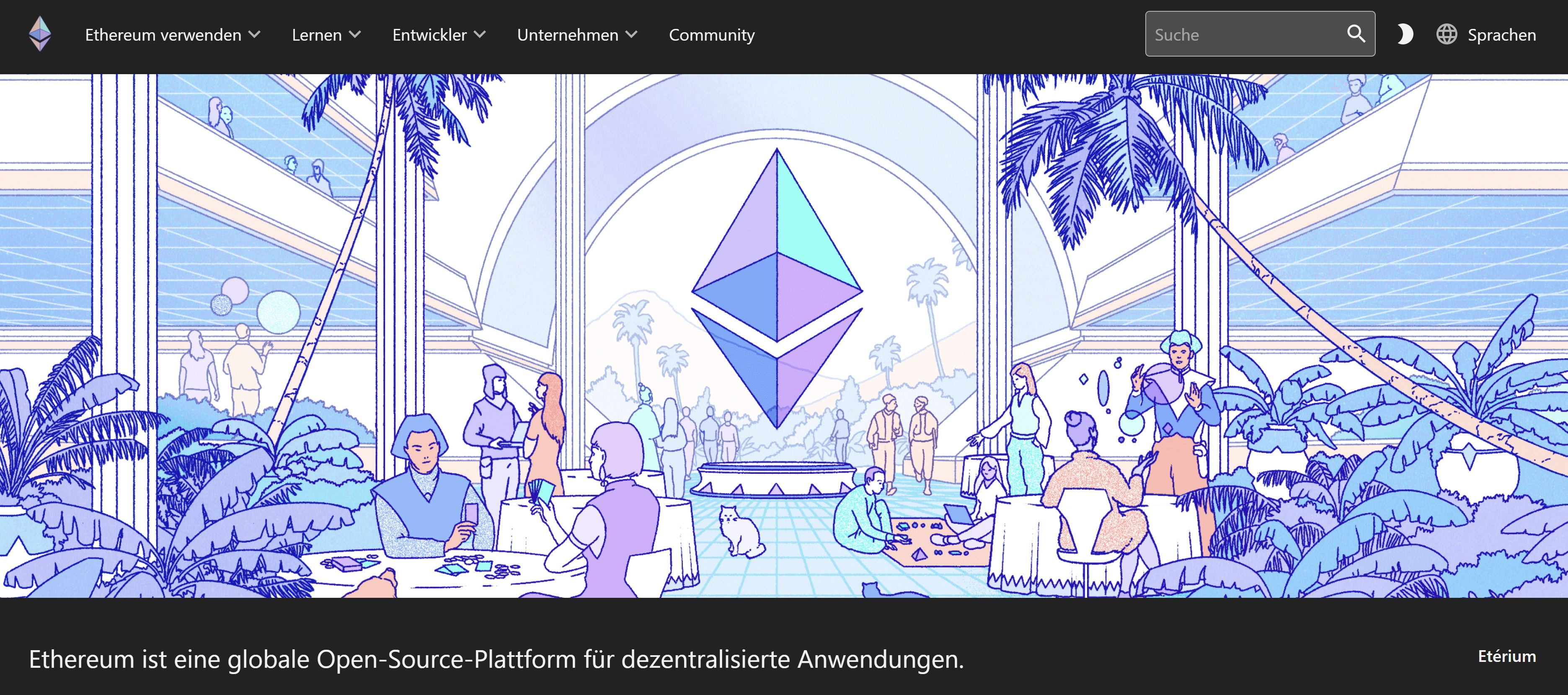 Ethereums webbplats