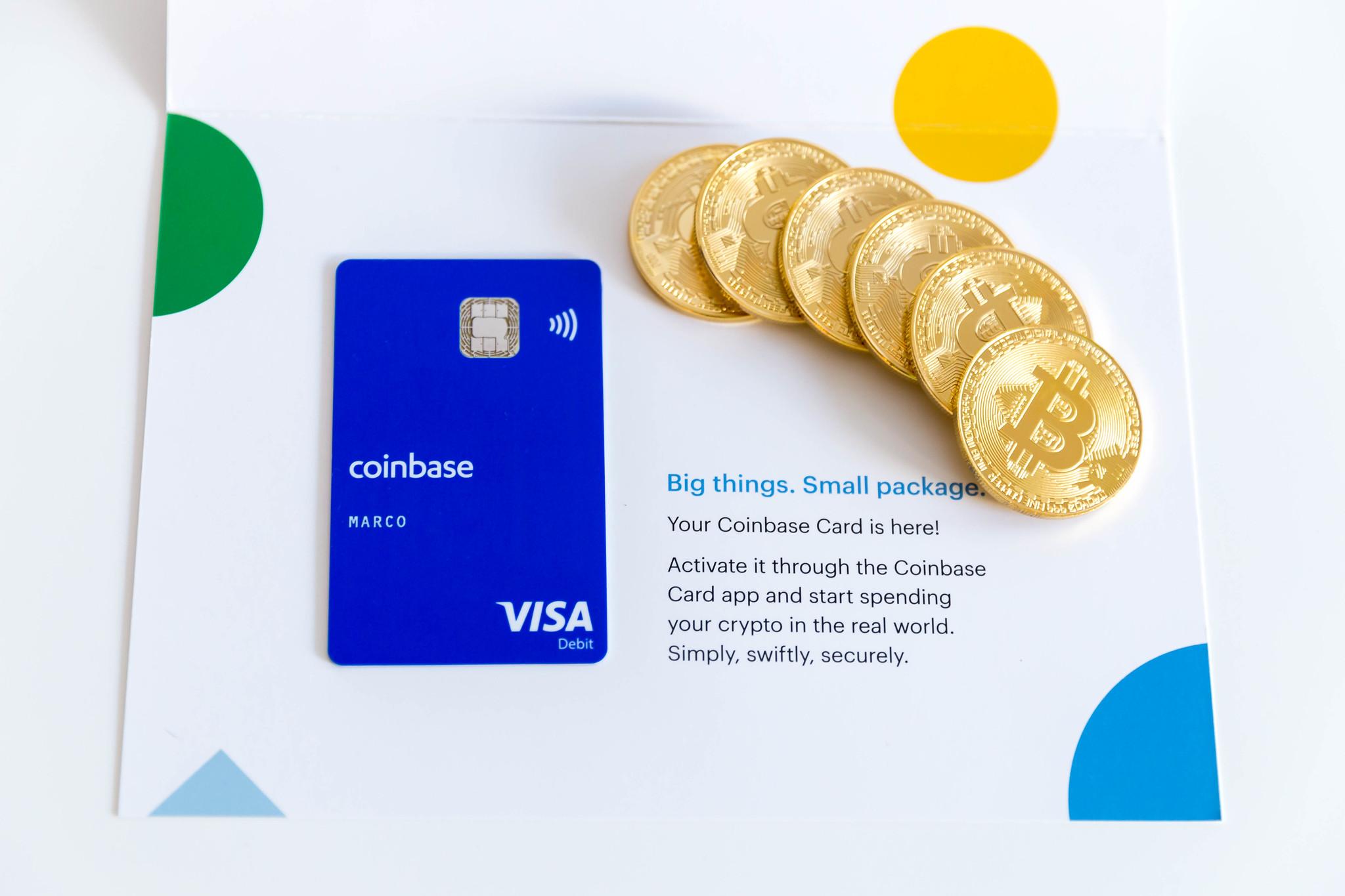 Кредитная карта Bitcoin Coinbase