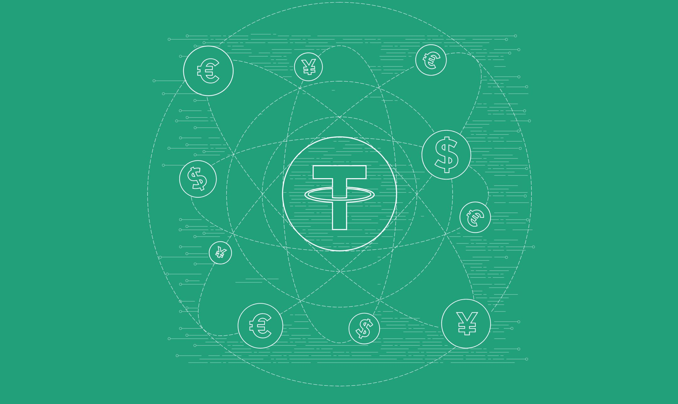 Tether logo and network