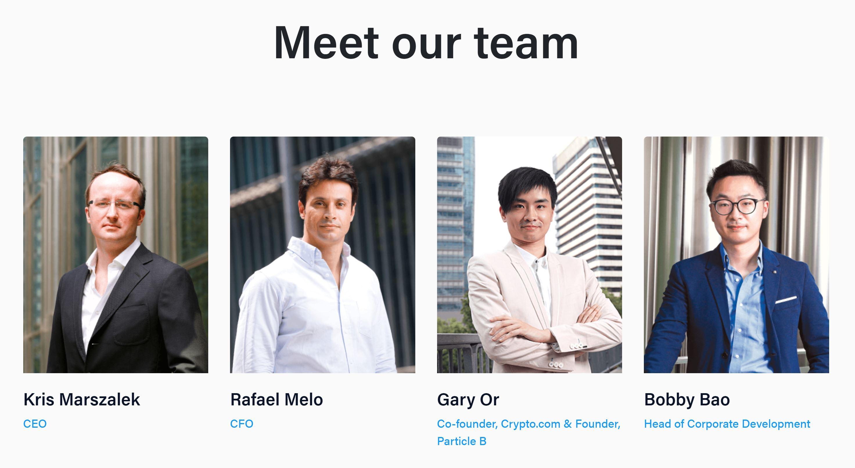 Il team di Crypto.com