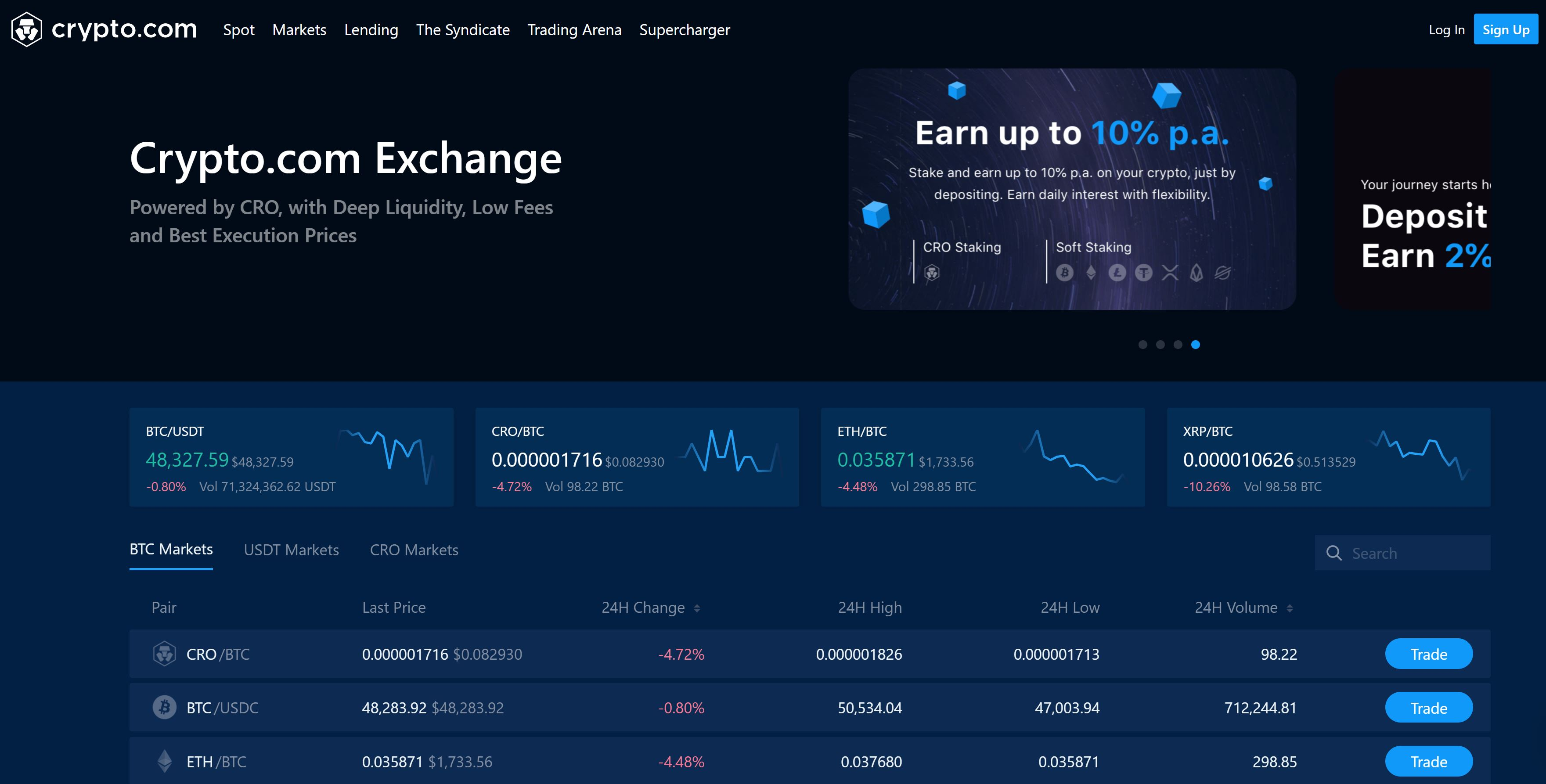 Crypto.com Exchange de un vistazo