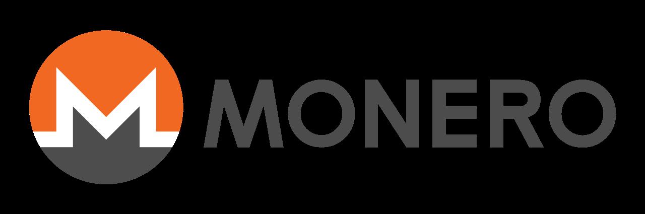 Monero Logo in groß mit weißem Hintergrund