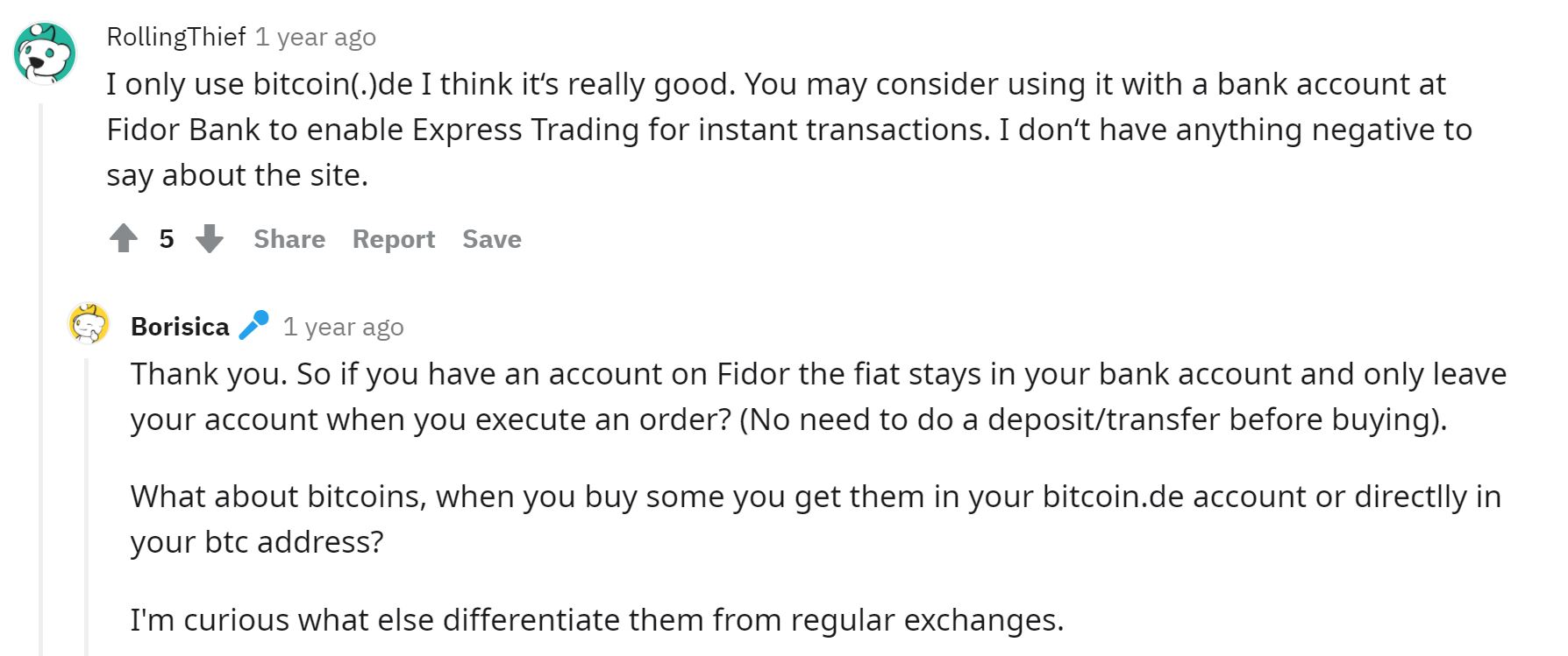 Bitcoin.de user opinions from Reddit