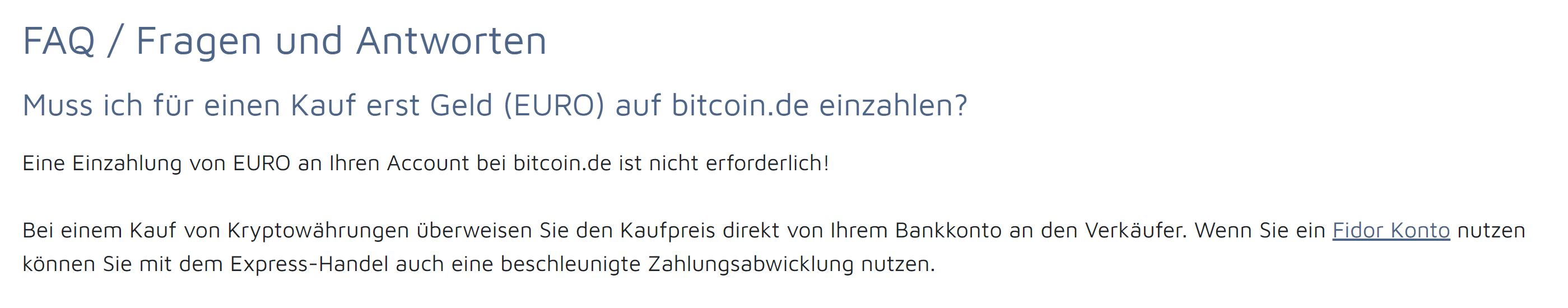 Bitcoin.de account deposits