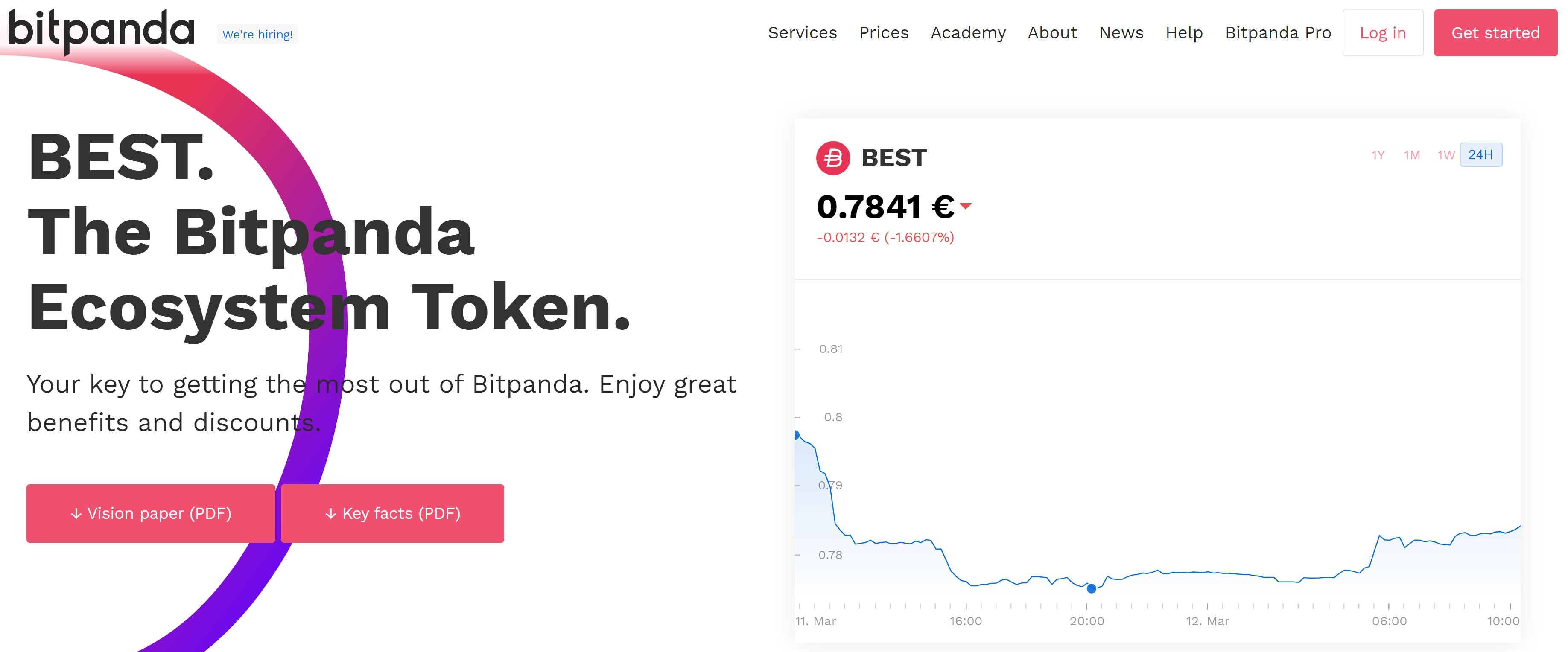 Bitpanda BEST in-house cryptocurrency