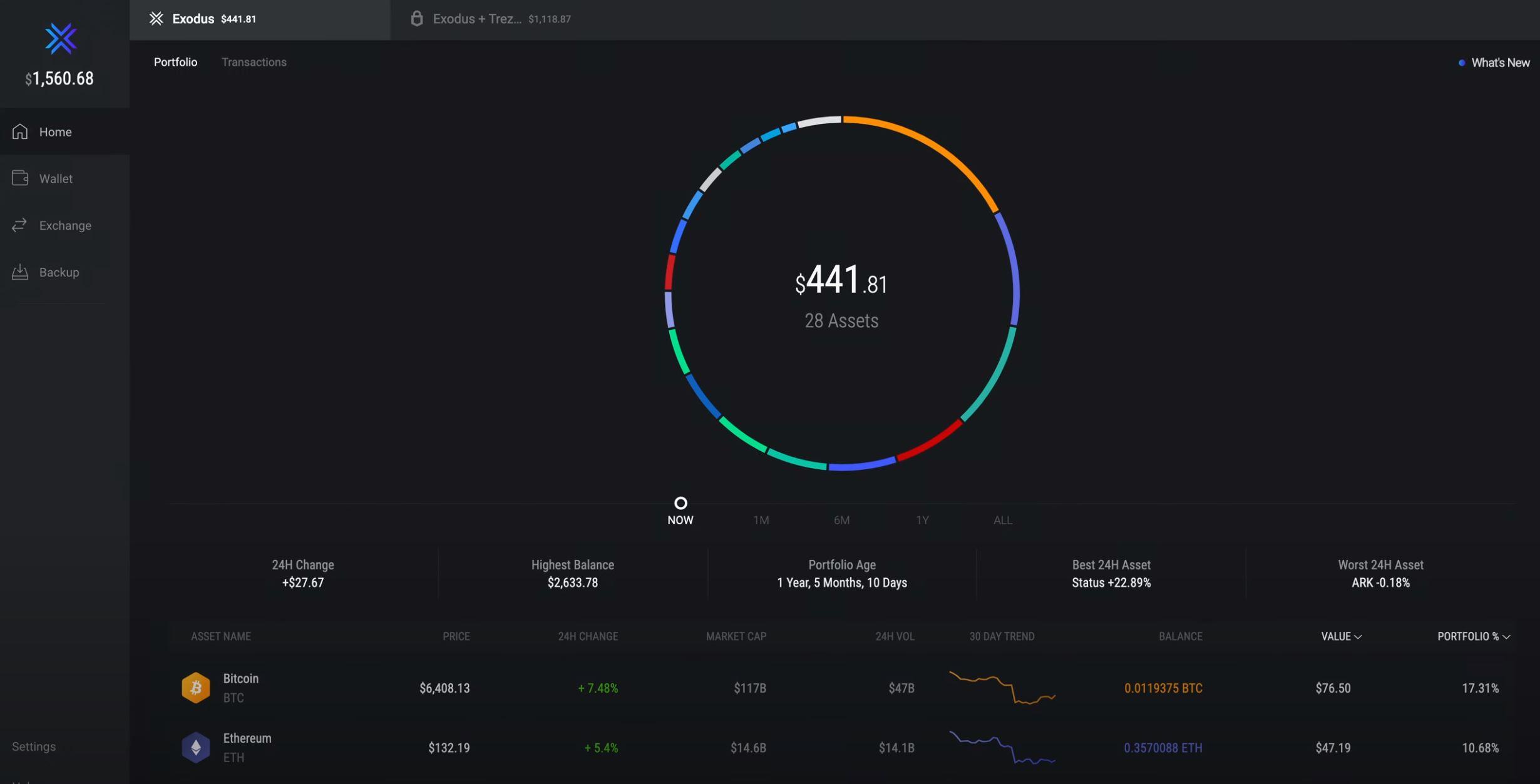 Exodus Wallet Desktop App