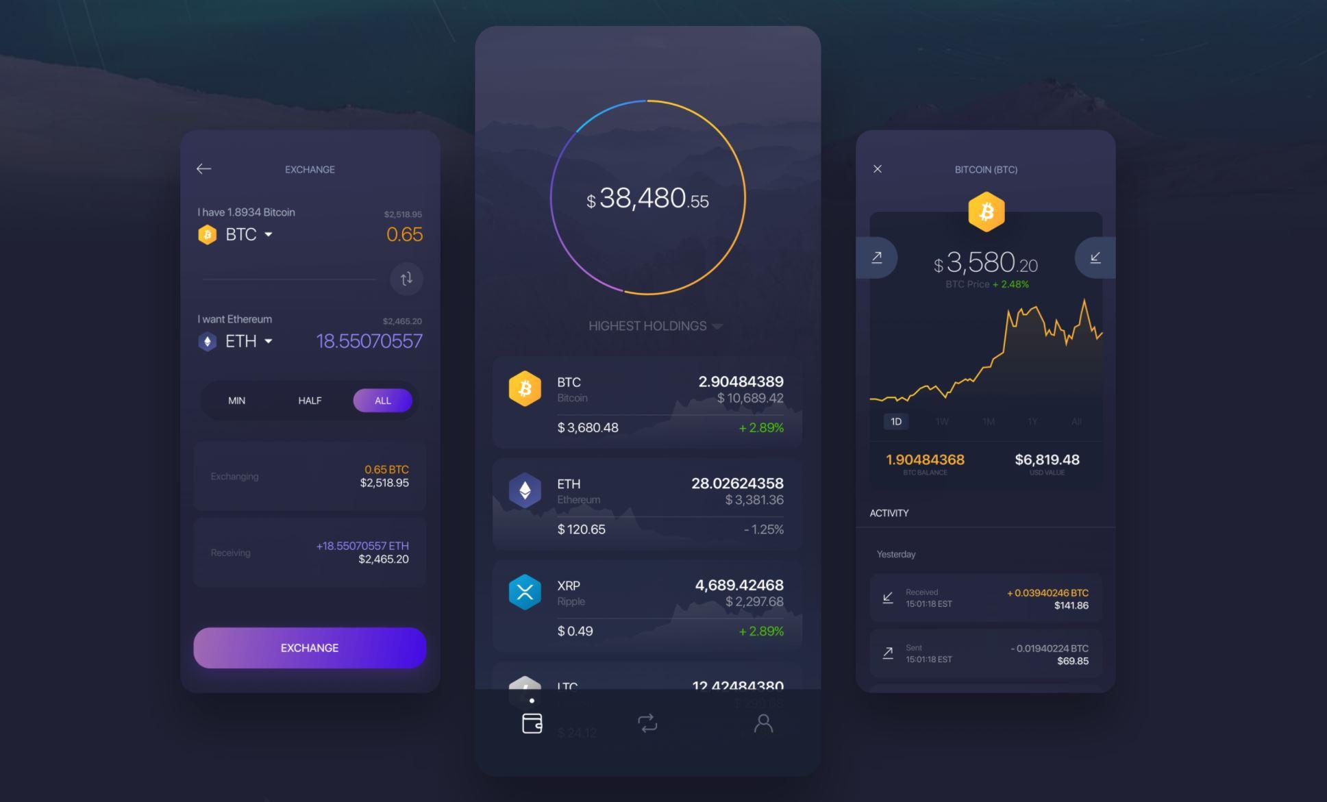 Exodus Wallet Mobile App