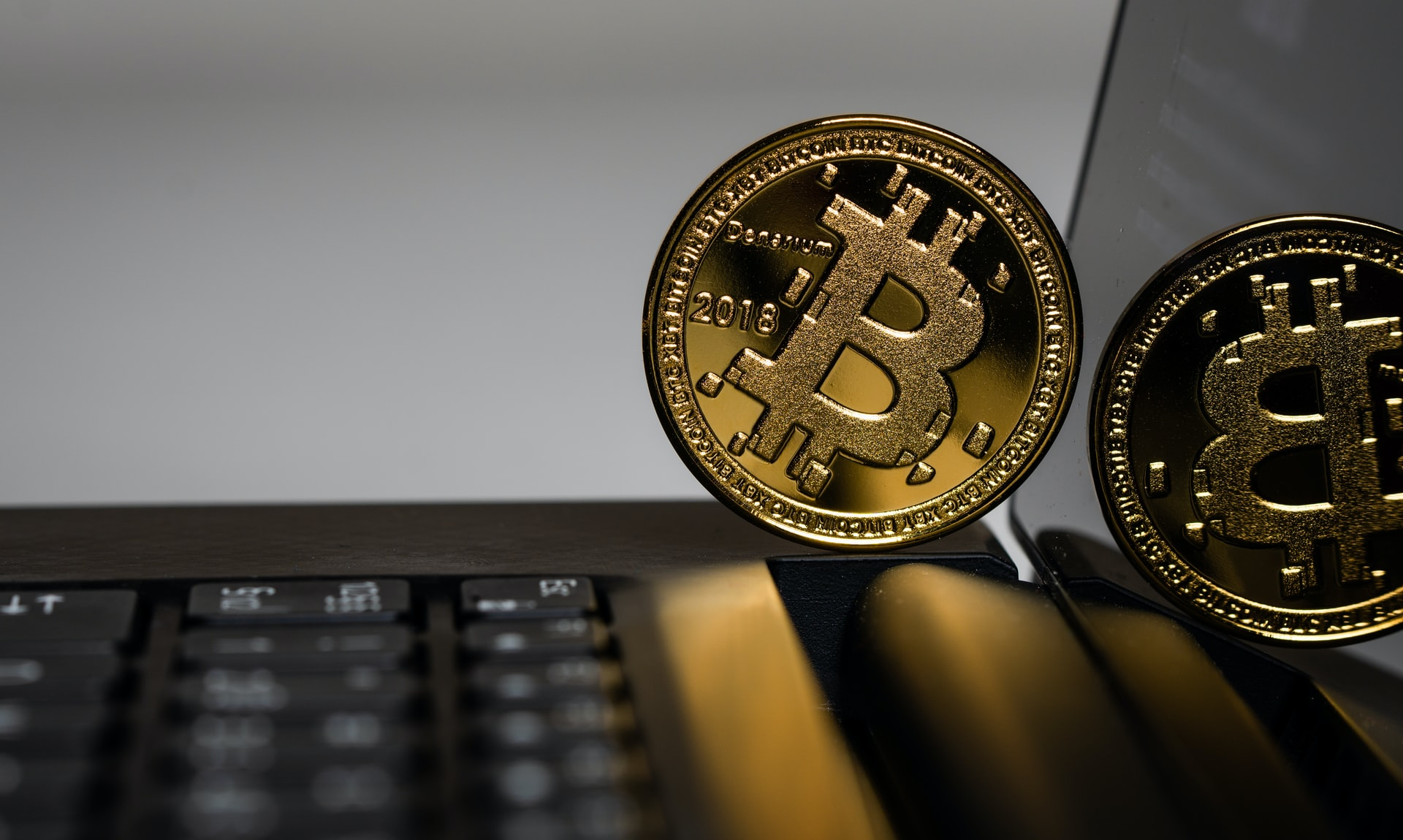 Bitcoin on laptop