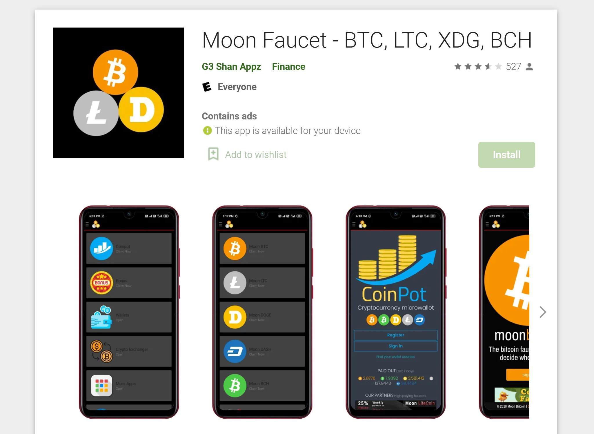 Moon Bitcoin App Download