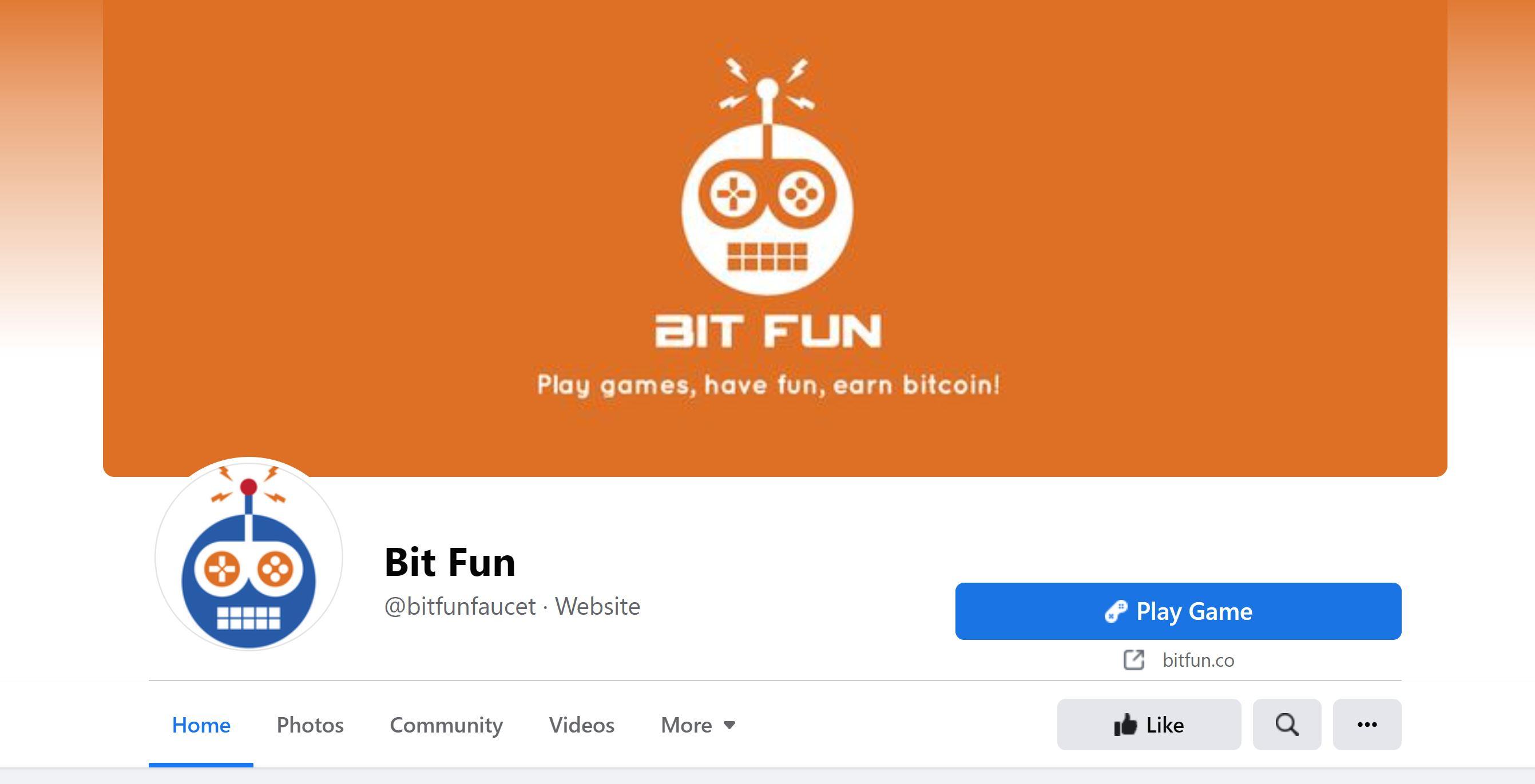 Страница Bit Fun в Facebook