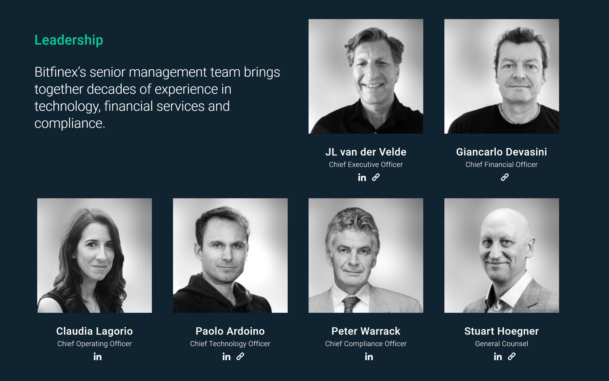 Bitfinex Leadership