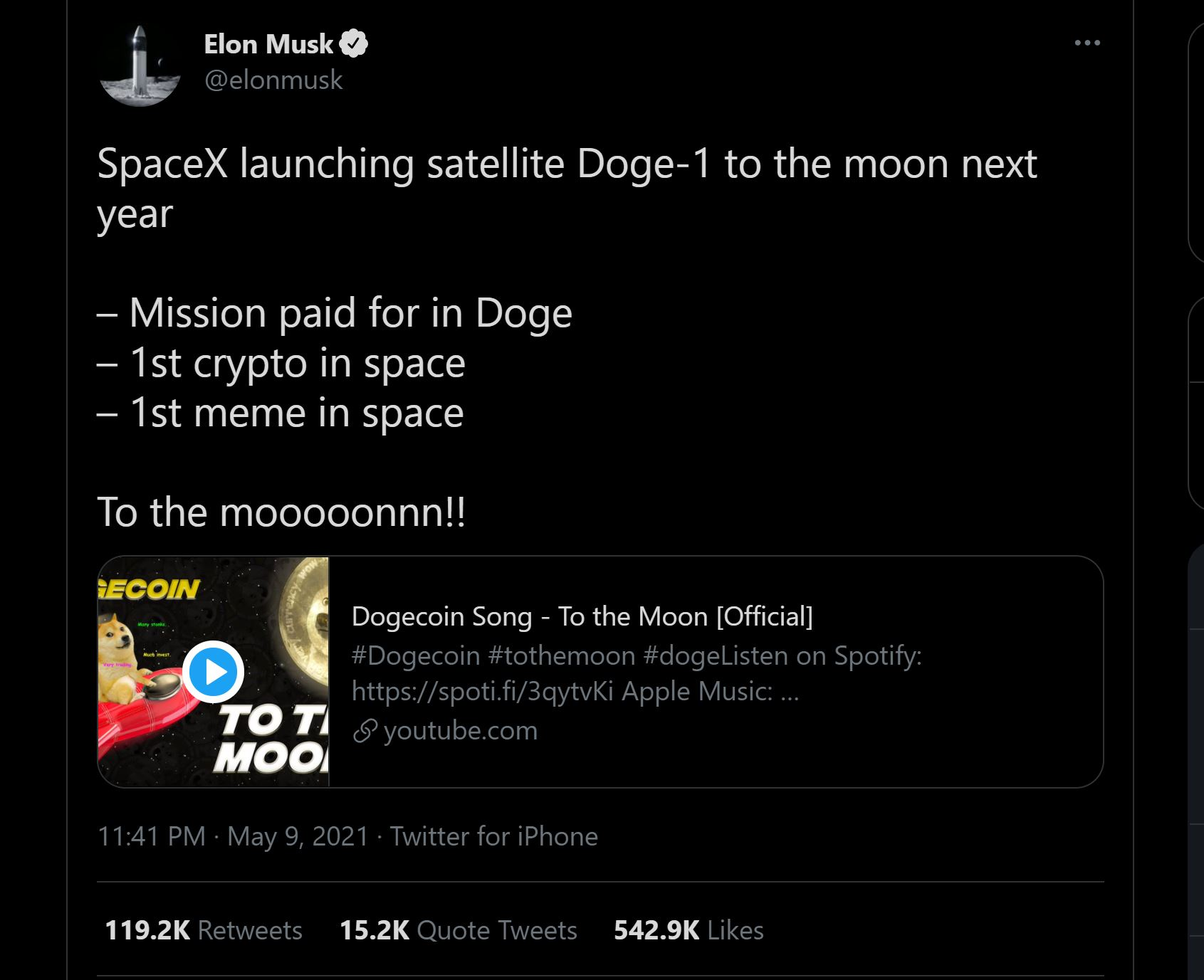 Shiba Inu Elon Musk tweet sur Dogecoin