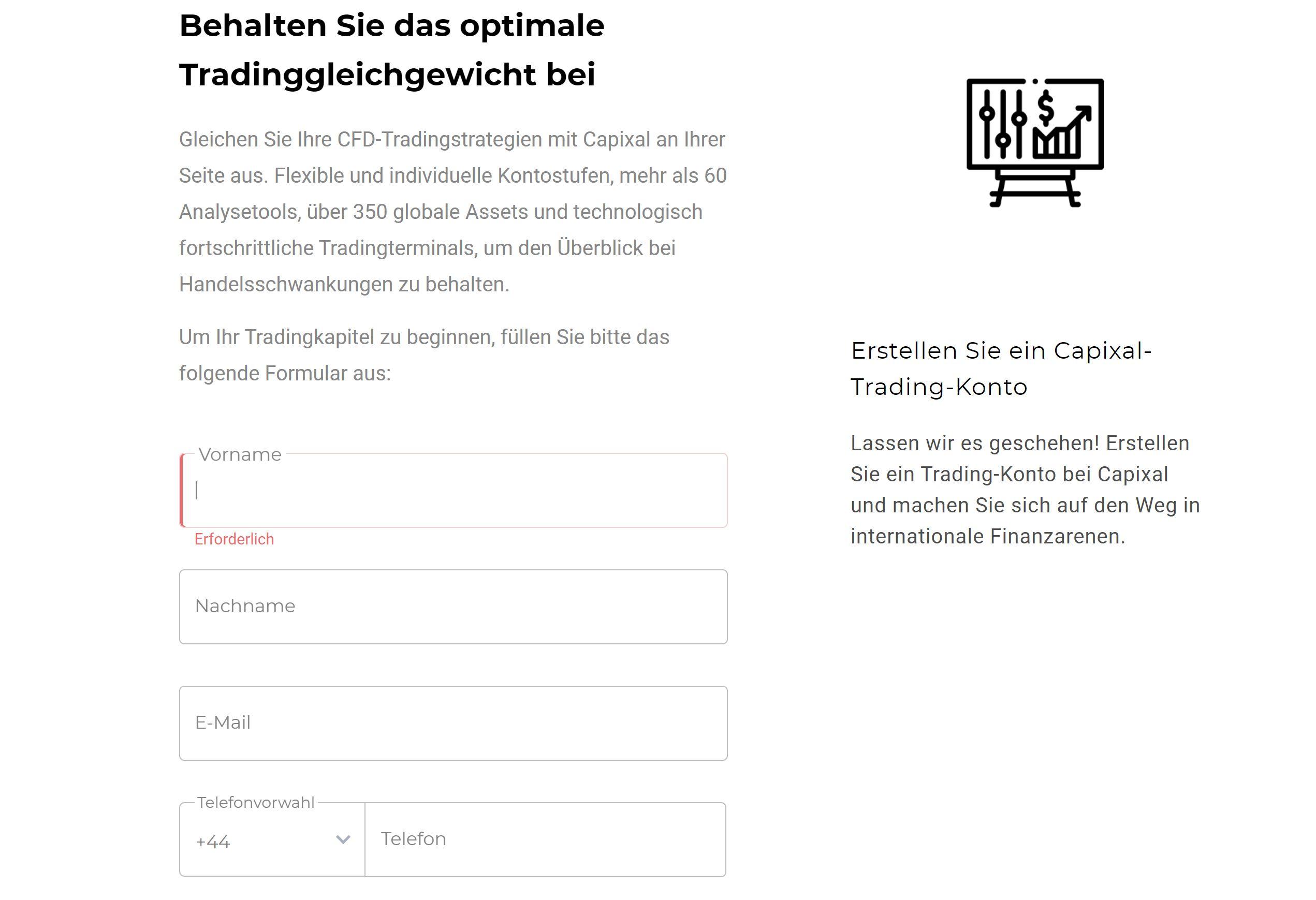 Создайте учетную запись Capixal.com