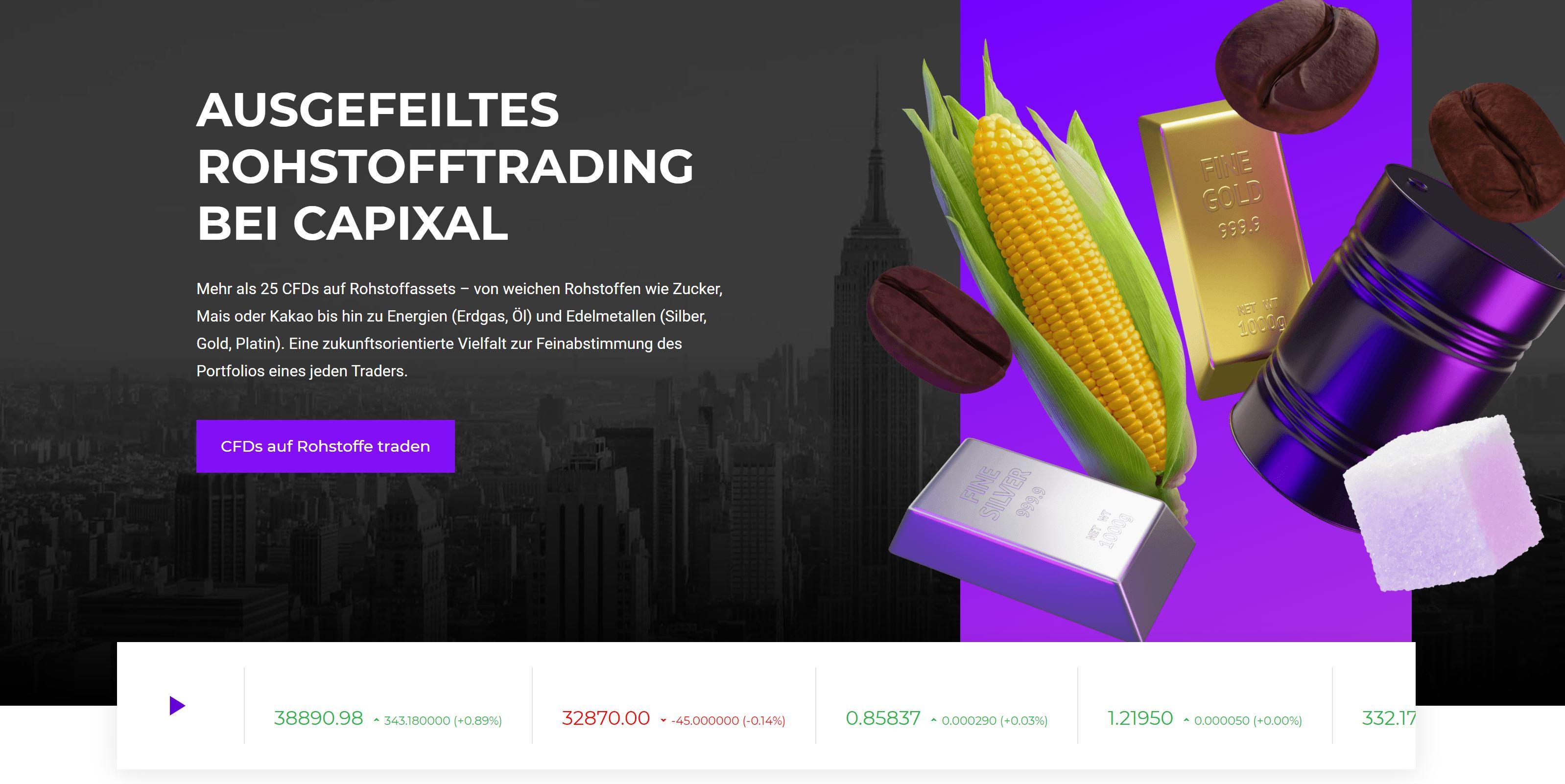 Capixal.com торговля сырьем