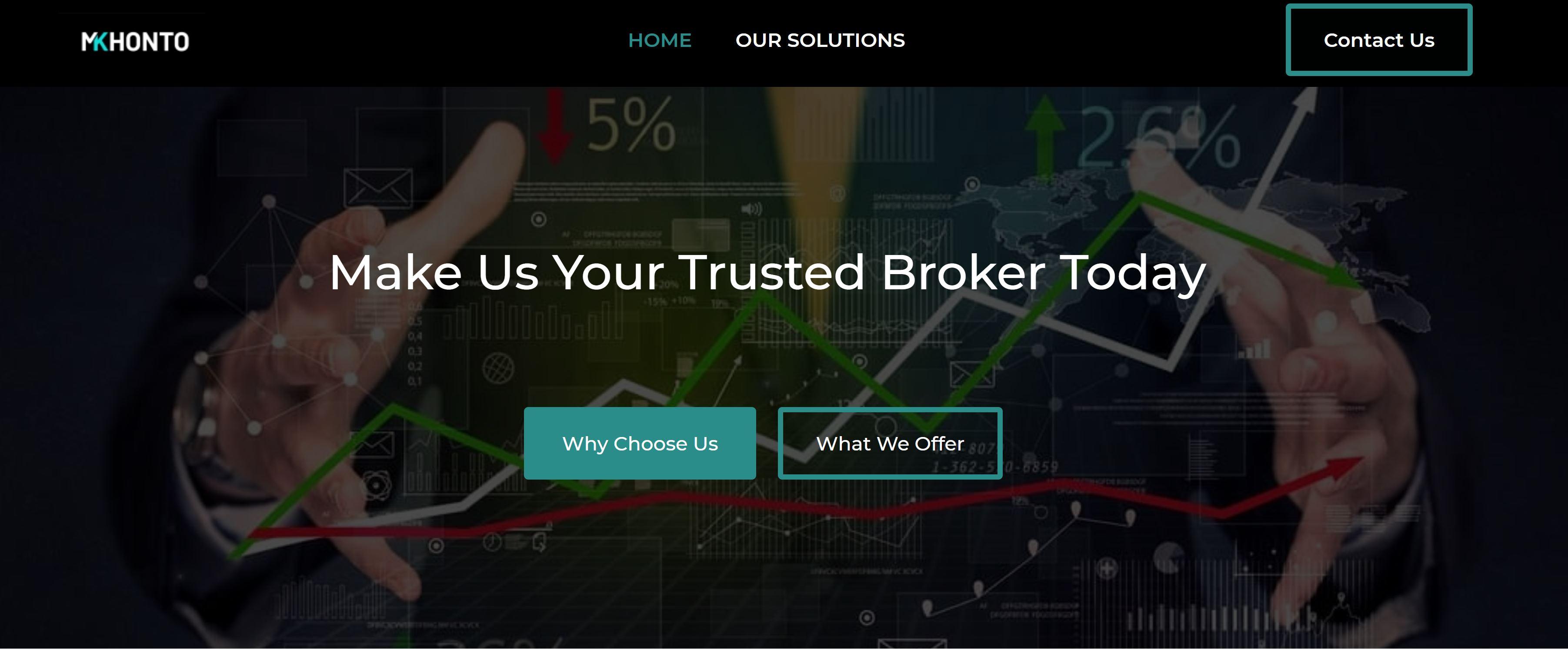 Sitio web de Mkhonto Financial