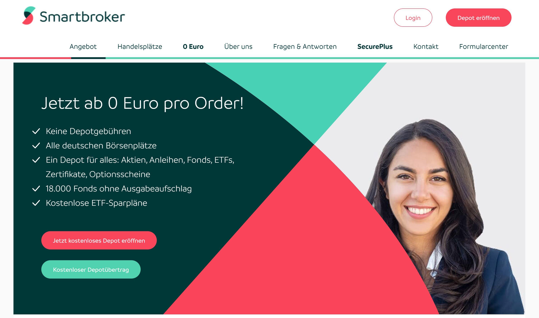 Smartbroker website