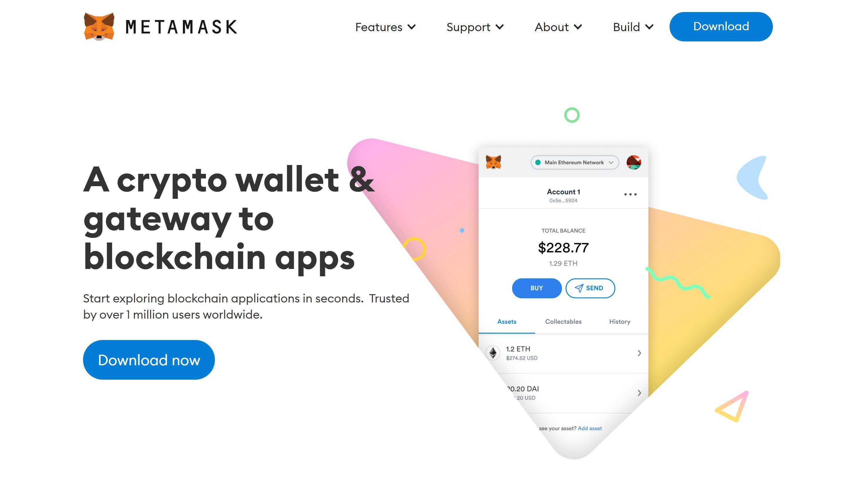 Site Web du portefeuille Metamask
