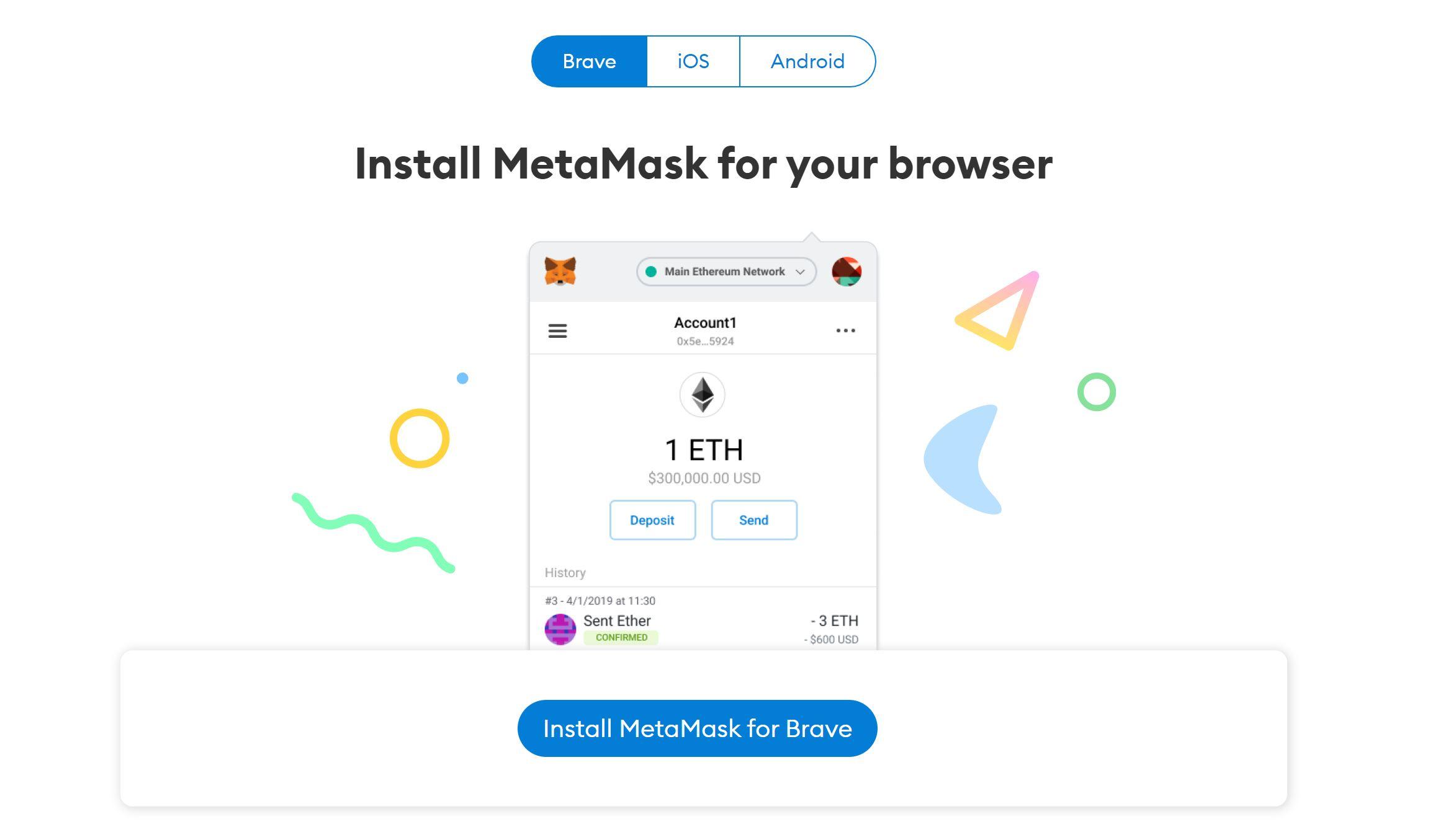 Télécharger le portefeuille Metamask
