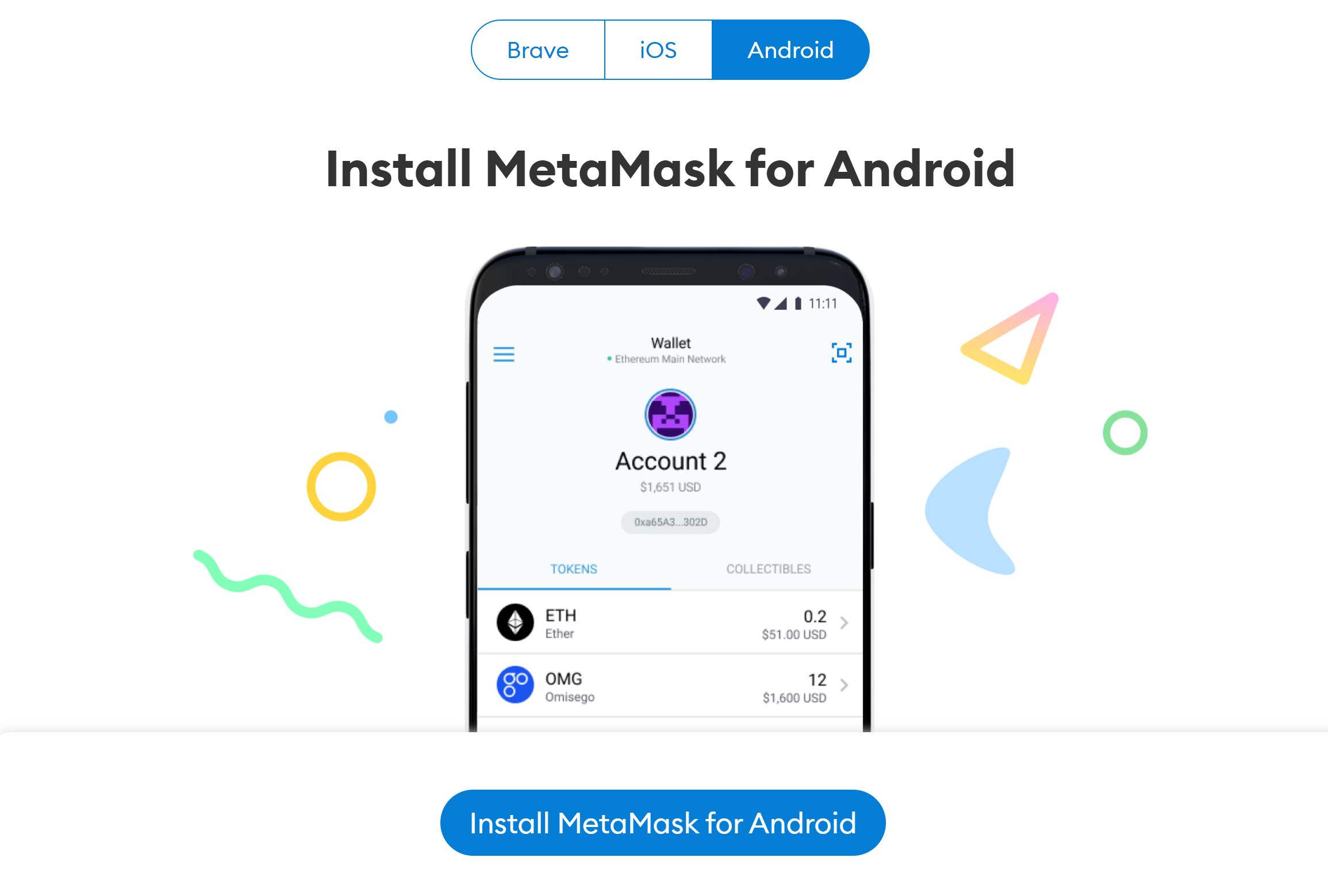 Metamask Wallet Télécharger Android