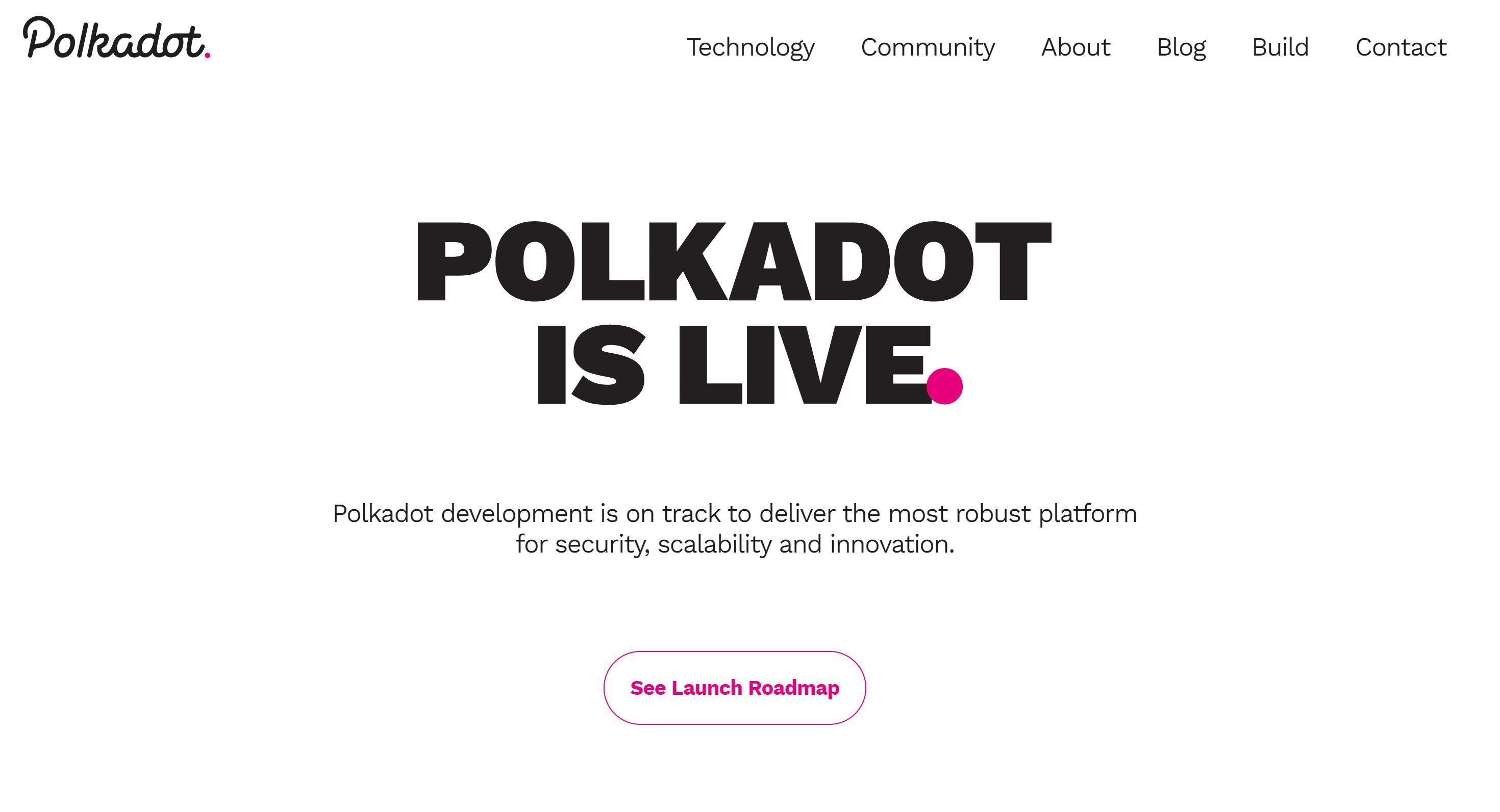 Сайт Polkadot