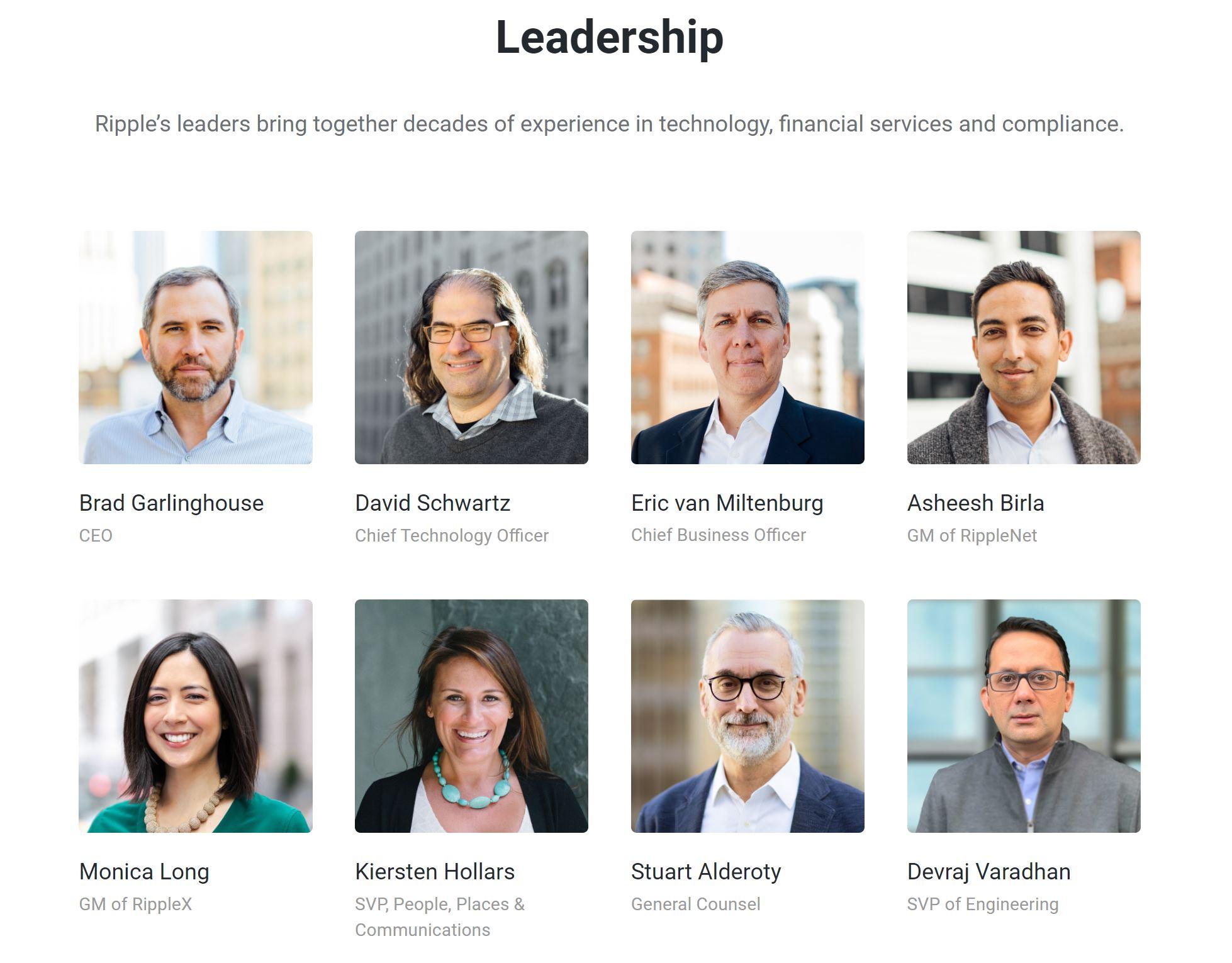 Ripple Leadership Team