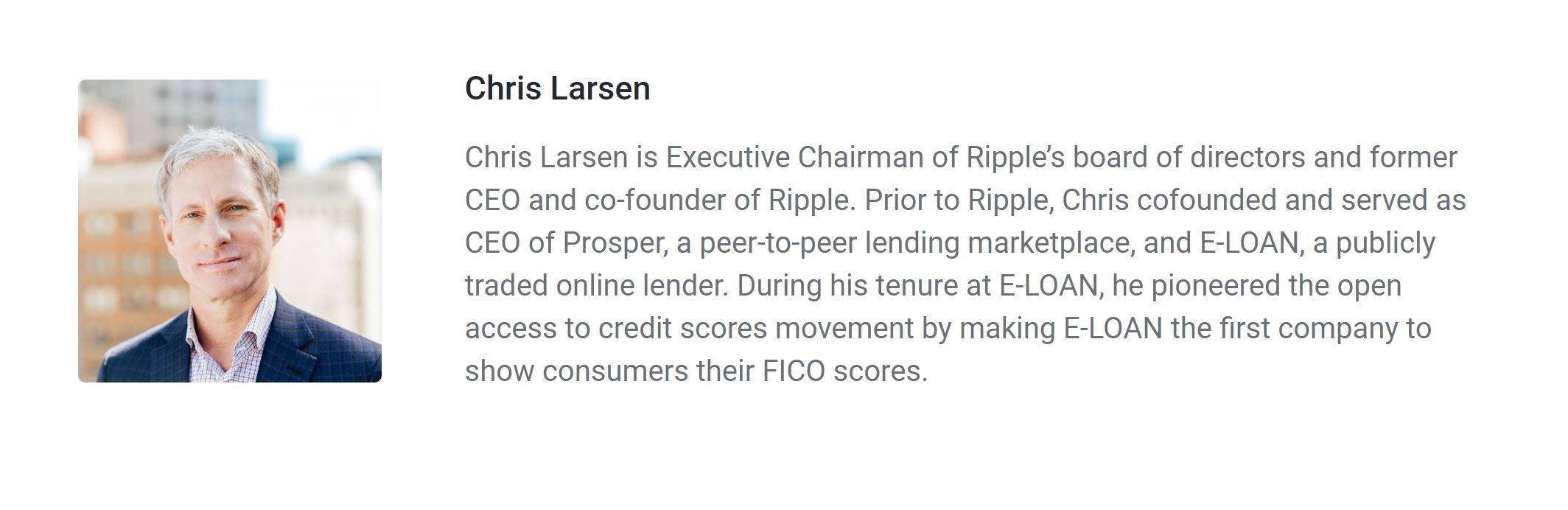 Ripple Chris Larsen Chairman