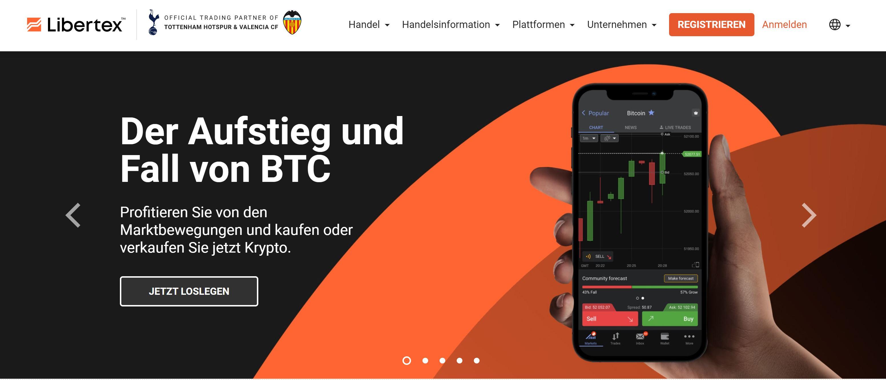Site Internet de Libertex