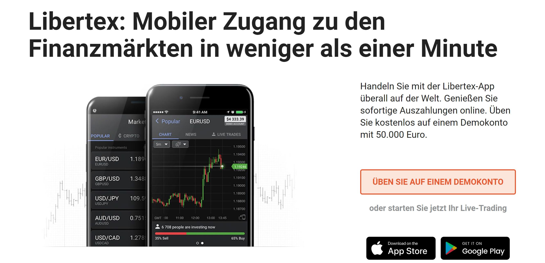 Plateforme de trading mobile Libertex