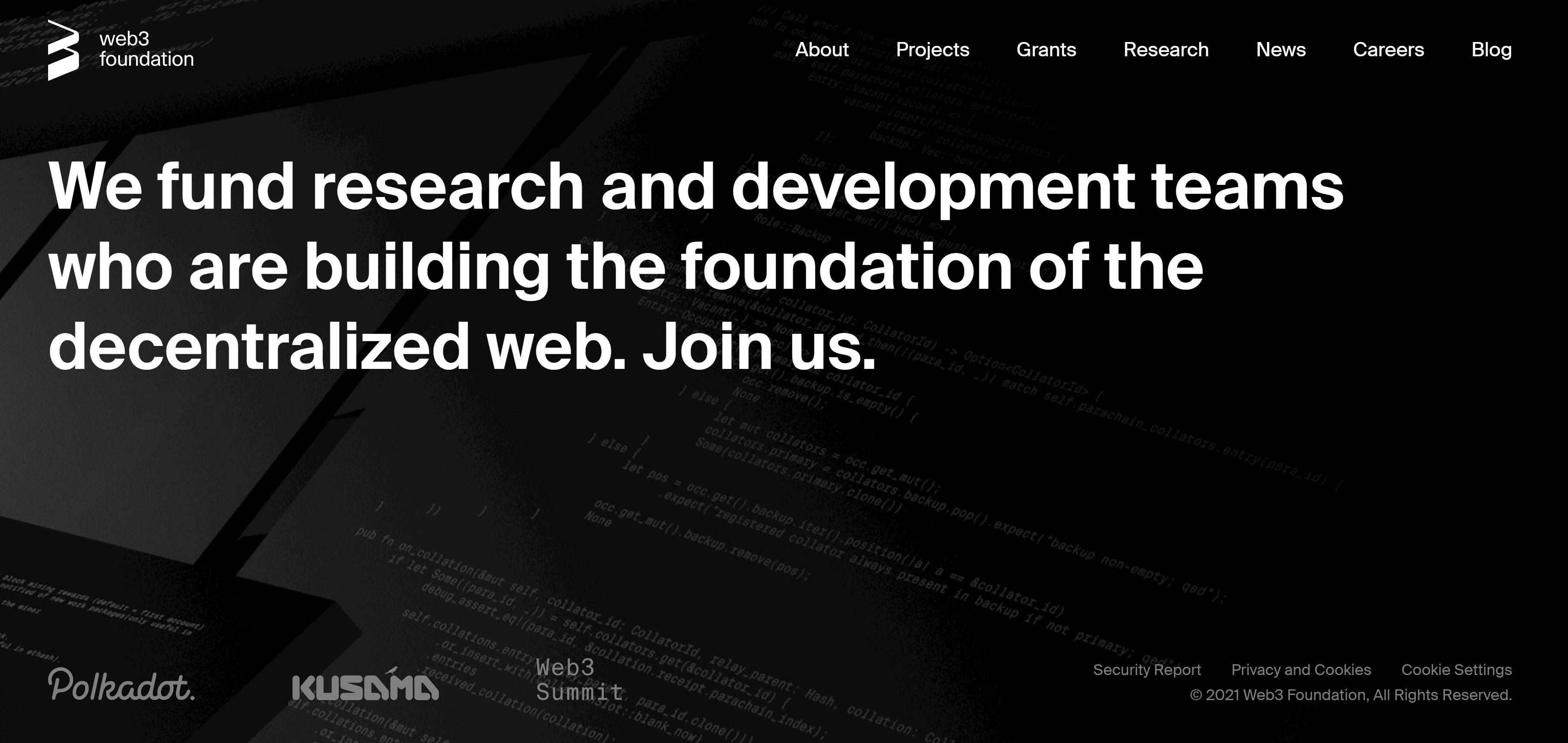 Les supporters de Polkadot Fondation Web3