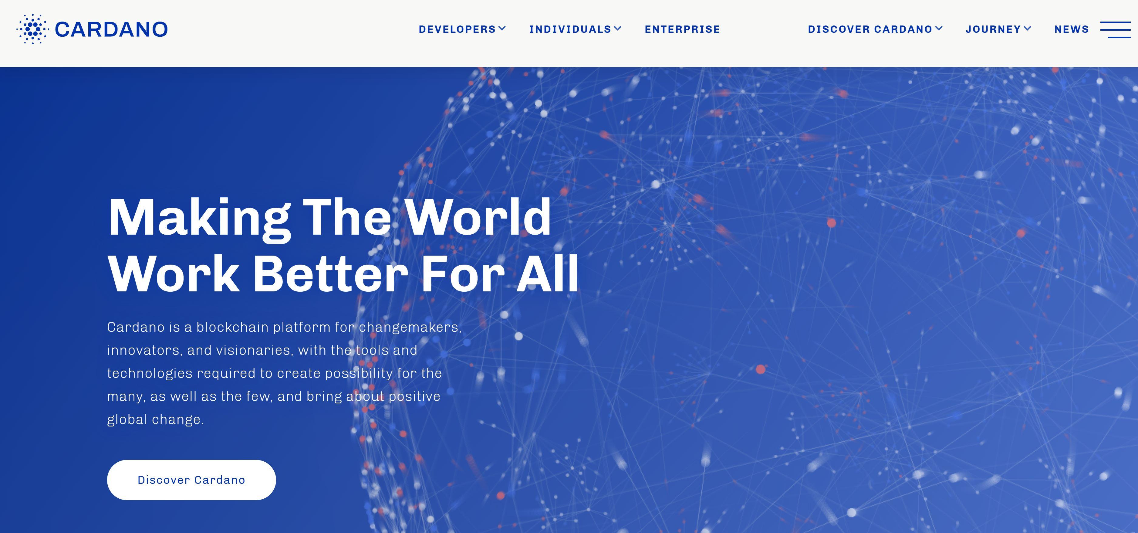 Sitio web de Cardano