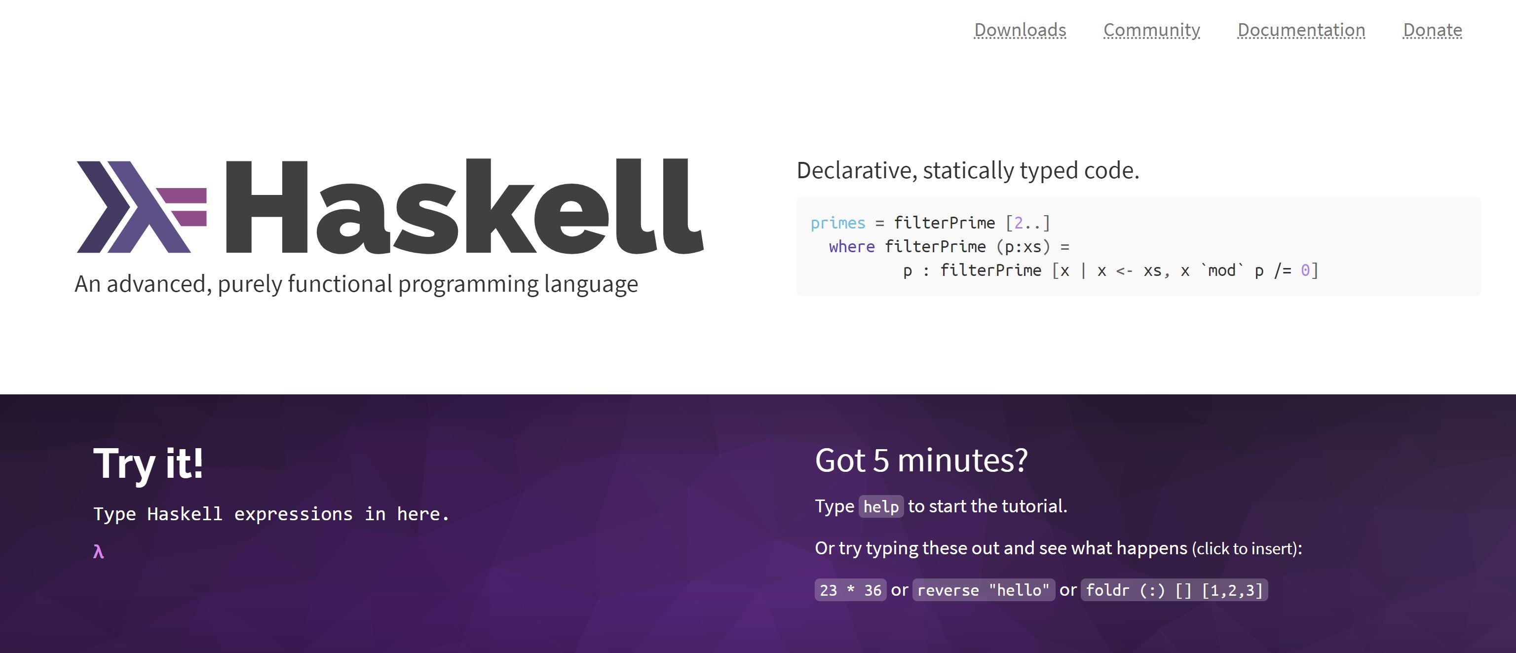 Lenguaje de programación Cardano Haskell