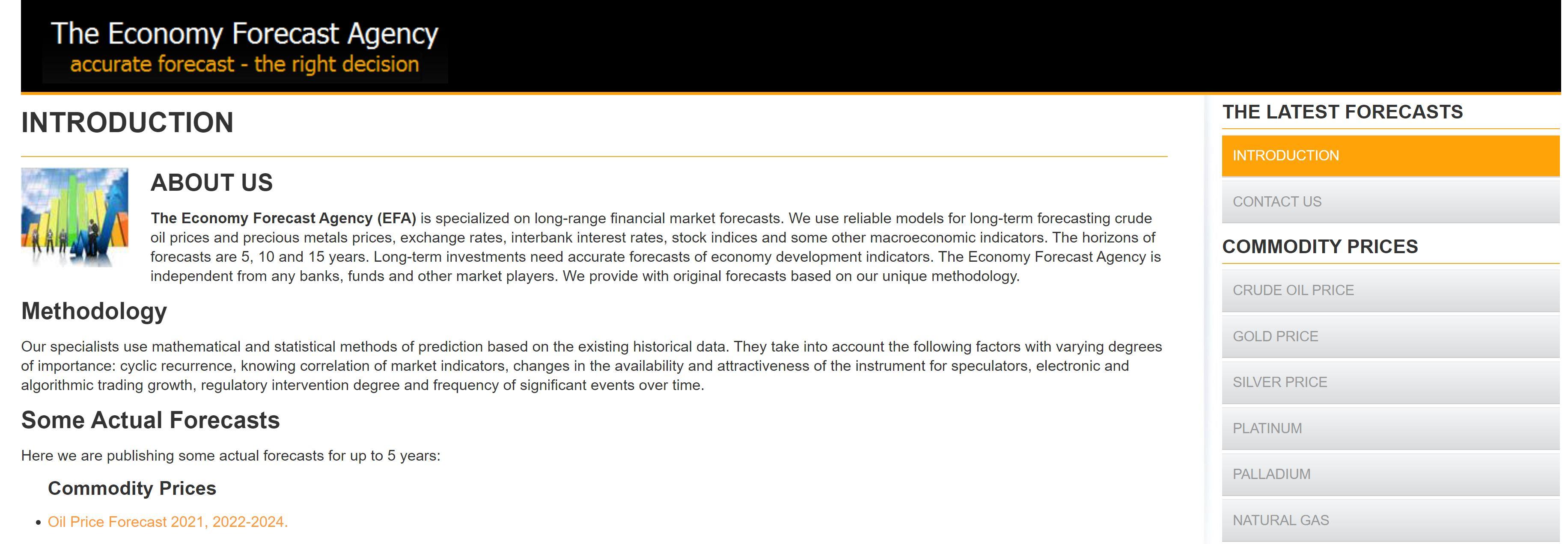 Sitio web Longforecast.com