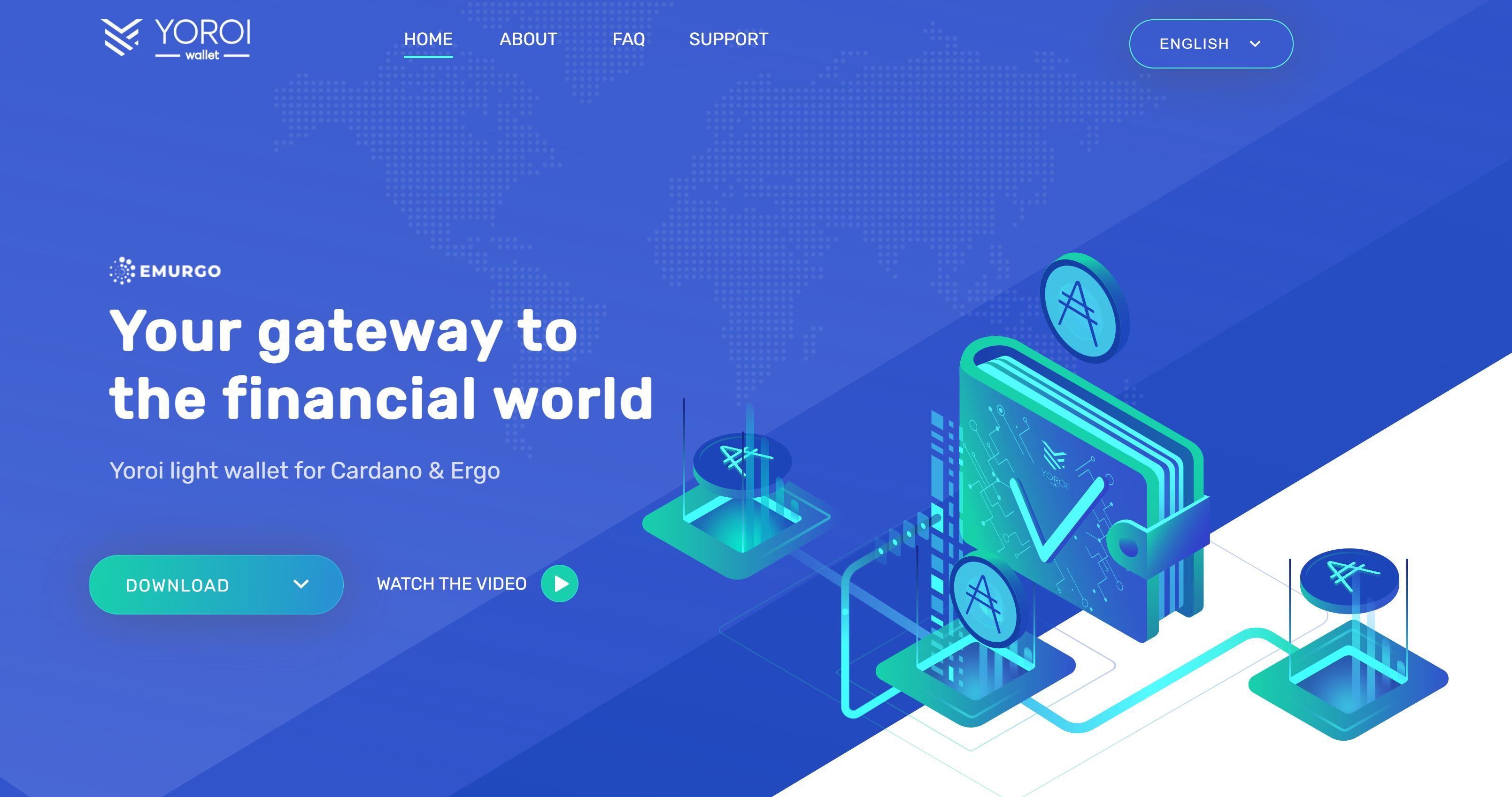 Yoroi Wallet-website